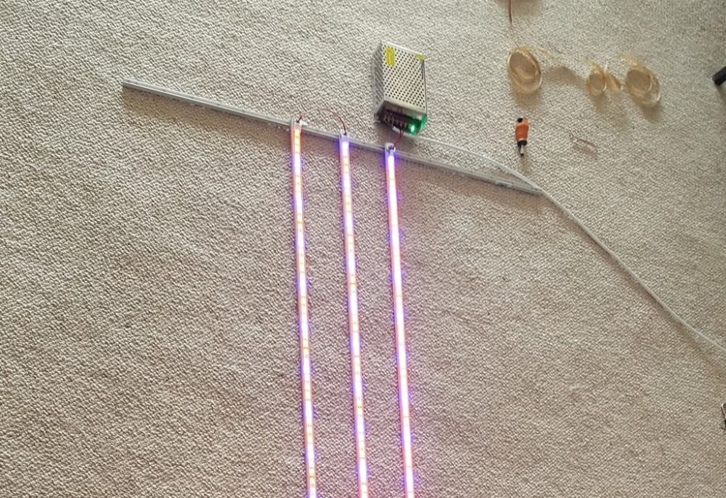 diy grow light setup power supply