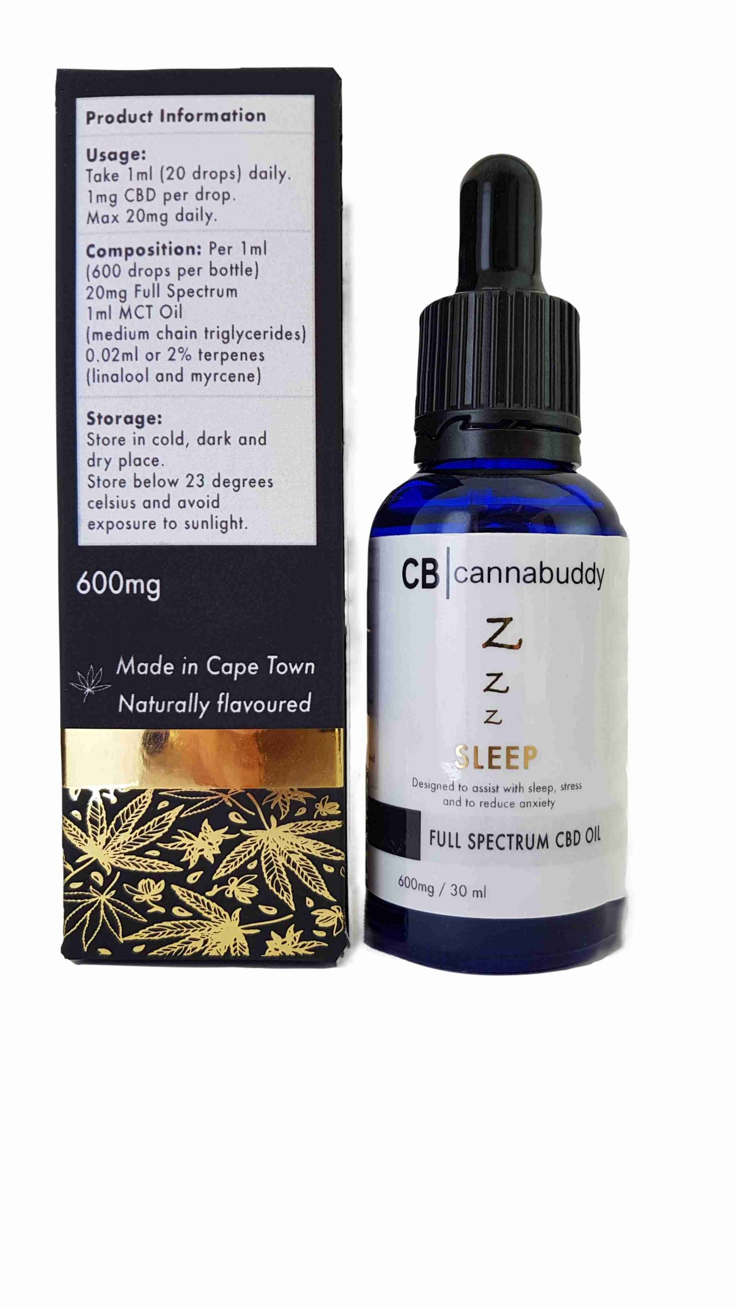 Cannabuddy 600mg Full-Spectrum CBD Sleep Oil