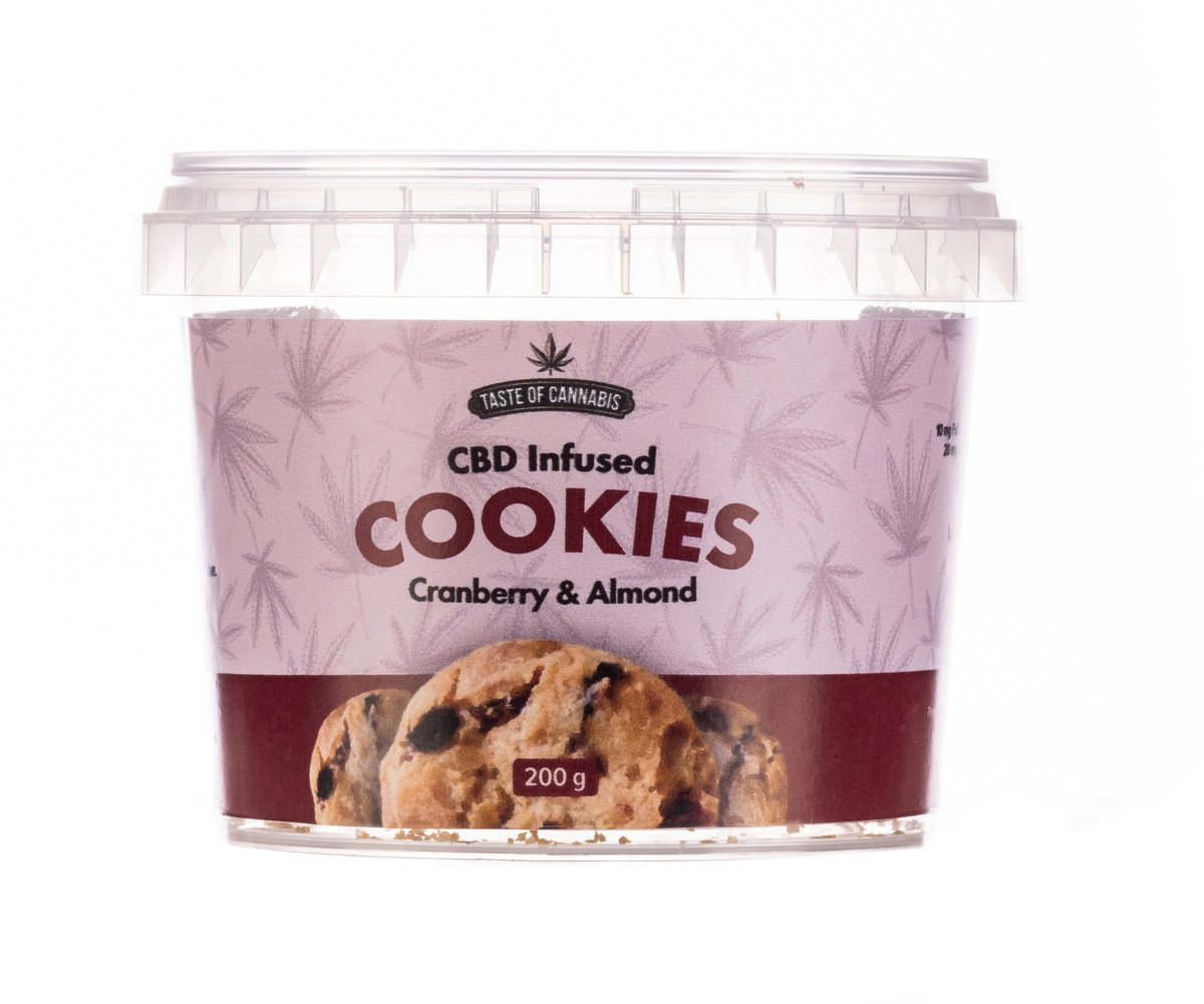 Cranberry & Almond CBD Cookies Gluten Free - 150mg